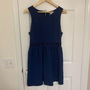 Navy skater dress